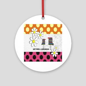 Retired librarian birds 2 Ornament (Round)