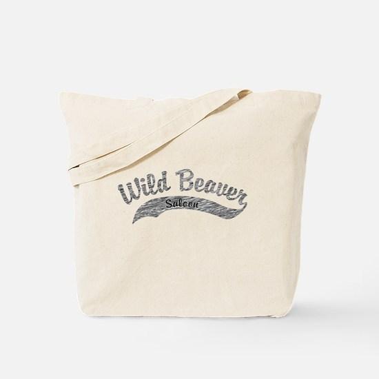 Wild Beaver Saloon Script Tote Bag