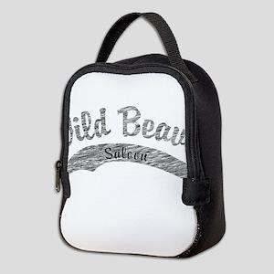 Wild Beaver Saloon Script Neoprene Lunch Bag