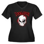 DOOMBXNY LOGO Women's Plus Size V-Neck Dark T-Shir