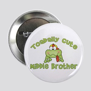 "Toadally Cute Middle Brother 2.25"" Button (100 pac"