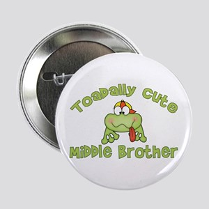 Toadally Cute Middle Brother Button
