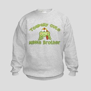 Toadally Cute Middle Brother Kids Sweatshirt