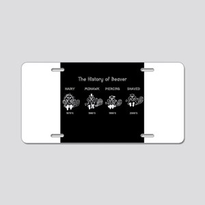 History of Beavers Aluminum License Plate