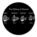 History of Beavers Round Car Magnet