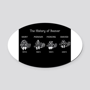 History of Beavers Oval Car Magnet