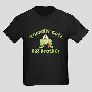 Toadally Cute Big Brother Kids Dark T-Shirt