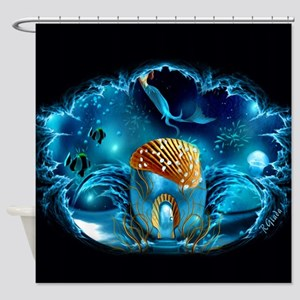 Aquarium Shower Curtain