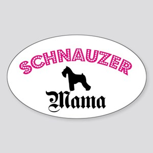 Schnauzer Mama Oval Sticker