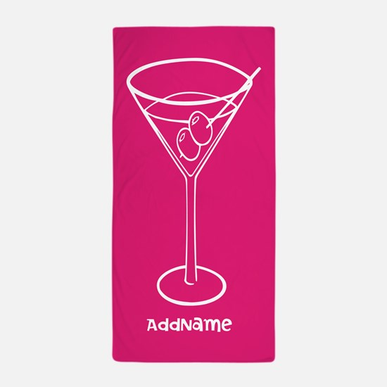 Pink Martini Personalized Name Beach Towel