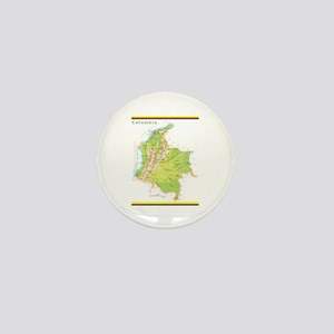 Colombia Green map Mini Button