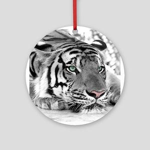 Lazy Tiger Ornament (Round)