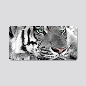 Lazy Tiger Aluminum License Plate