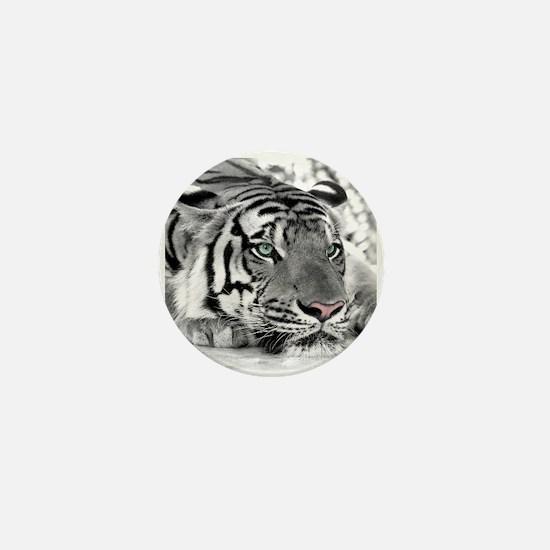 Lazy Tiger Mini Button