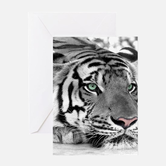 Lazy Tiger Greeting Cards
