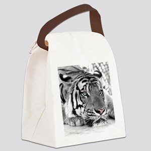Lazy Tiger Canvas Lunch Bag