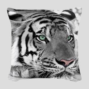 Lazy Tiger Woven Throw Pillow