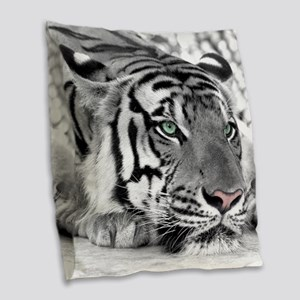 Lazy Tiger Burlap Throw Pillow