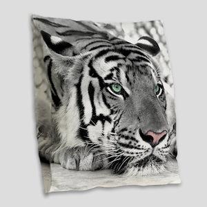 Lazy Tiger Burlap Throw Pillow