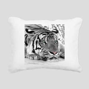 Lazy Tiger Rectangular Canvas Pillow