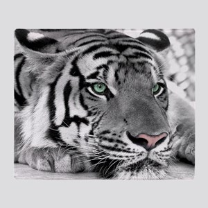 Lazy Tiger Throw Blanket