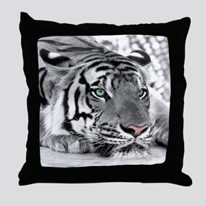 Lazy Tiger Throw Pillow