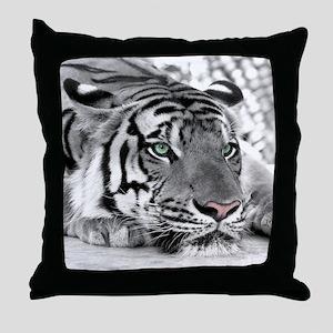 Lazy Tiger Throw Pillow