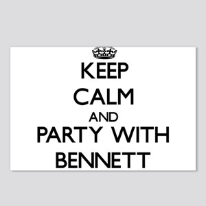 Keep calm and Party with Bennett Postcards (Packag