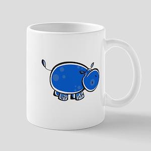 Bright Blue Hippo Mug