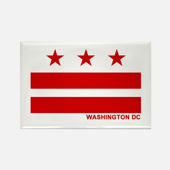 Washington DC Flag Rectangle Magnet