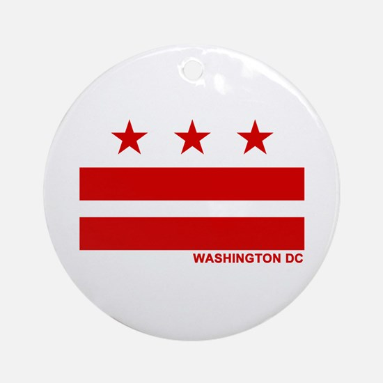 Washington DC Flag Ornament (Round)