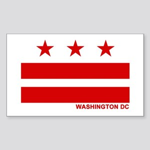 Washington DC Flag Rectangle Sticker