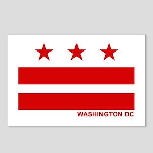 Washington DC Flag Postcards (Package of 8)