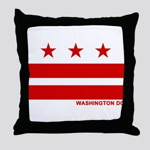 Washington DC Flag Throw Pillow