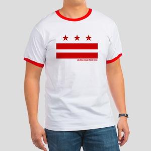 Washington DC Flag Ringer T