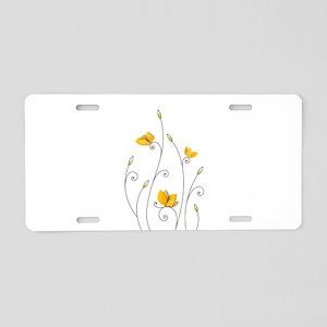 Paper Butterflies Aluminum License Plate