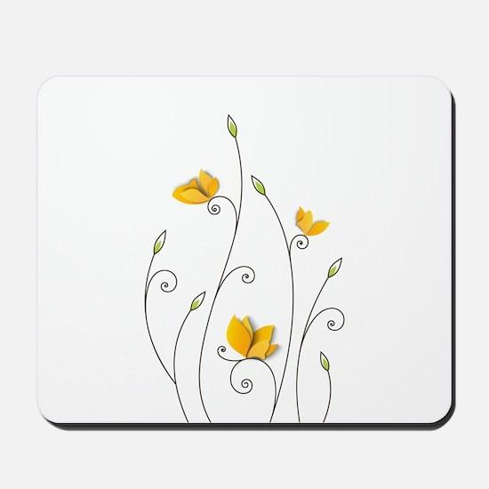 Paper Butterflies Mousepad