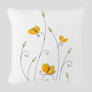 Paper Butterflies Woven Throw Pillow