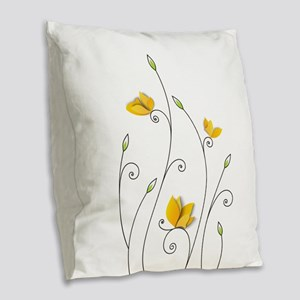 Paper Butterflies Burlap Throw Pillow