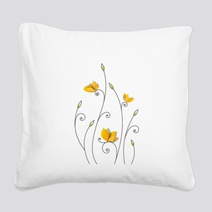 Paper Butterflies Square Canvas Pillow