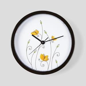 Paper Butterflies Wall Clock