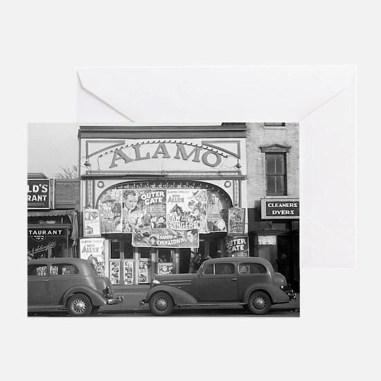 The Alamo Movie Theater, 1937 Greeting Card