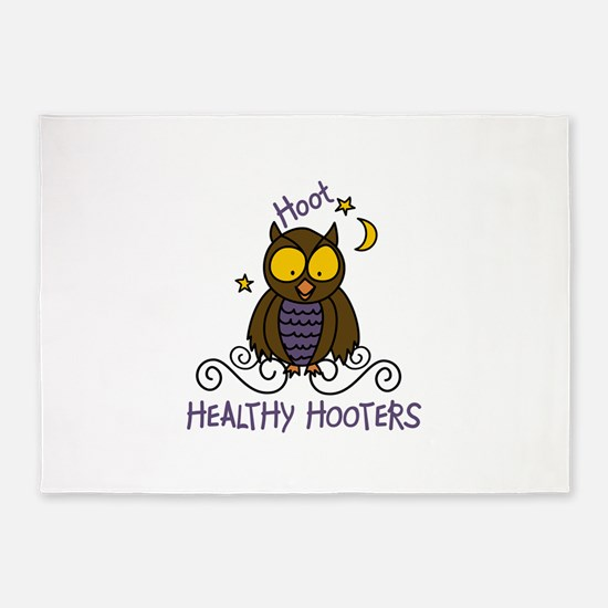 Healthy Hooters 5 X7 Area Rug