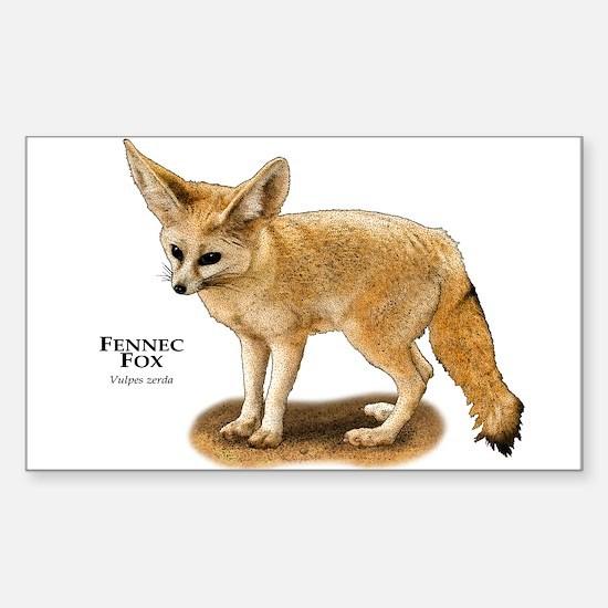 Fennec Fox Sticker (Rectangle)
