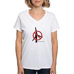 No Turbines Women's V-Neck T-Shirt
