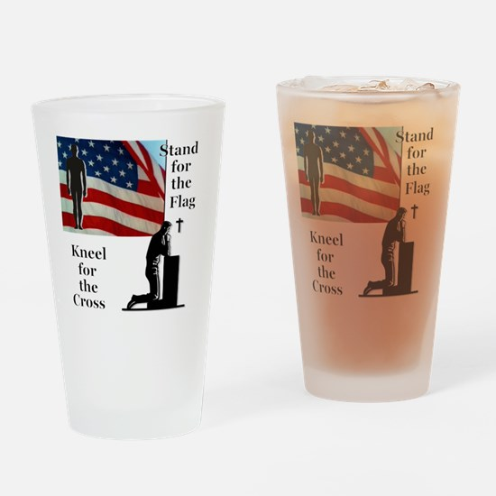 Cute Proud american Drinking Glass