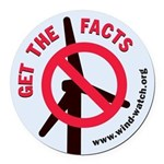 Get The Facts Round Car Magnet