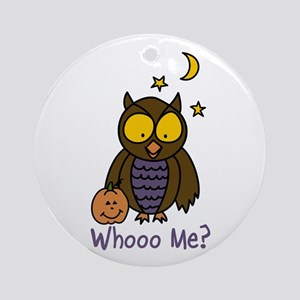 Whooo Me? Ornament (Round)
