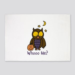 Whooo Me? 5'x7'Area Rug