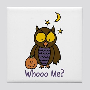 Whooo Me? Tile Coaster